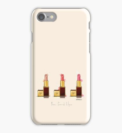 Lipstick 3 times the charm iPhone Case/Skin