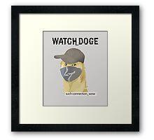 WATCH_DOGE (Watch Dogs parody) Framed Print