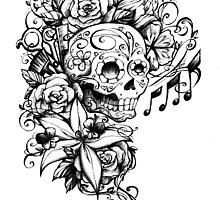 Singing Sugar Skull  by michellediann
