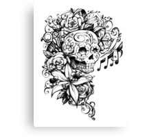 Singing Sugar Skull  Canvas Print