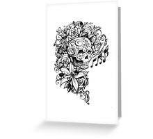 Singing Sugar Skull  Greeting Card