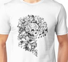 Singing Sugar Skull  Unisex T-Shirt