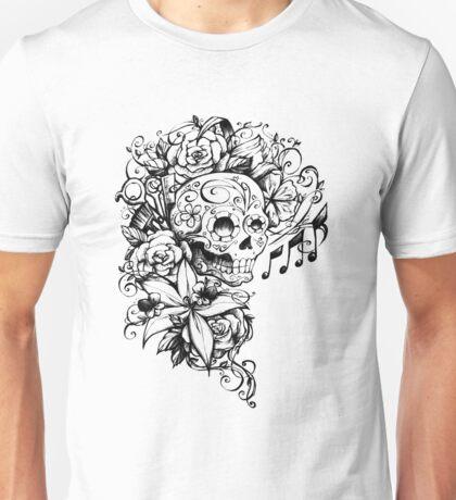Singing Sugar Skull  Unisex T-Shirt
