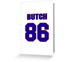 National football player Butch Wilson jersey 86 Greeting Card