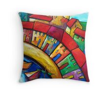 ANCIENT  GENOA  BY  THE  SEA Throw Pillow
