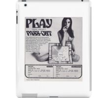PASS-OUT DRINKING BOARD GAME iPad Case/Skin