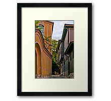 Traditional Houses in Old Plovdiv, Bulgaria Framed Print