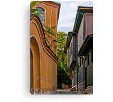 Traditional Houses in Old Plovdiv, Bulgaria Canvas Print