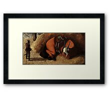 The Blind Steed Framed Print