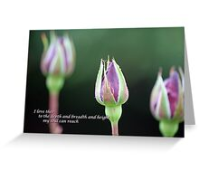 I love thee to the depth and breadth and height my soul can reach... Greeting Card