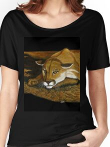 Cougar in the Dark Women's Relaxed Fit T-Shirt