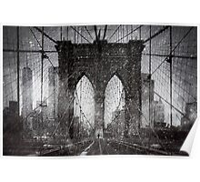 Brooklyn Bridge Snow Day Poster