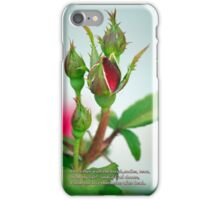 I shall but love thee better after death. iPhone Case/Skin