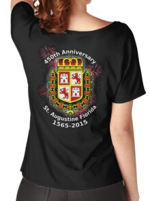 St. Augustine Florida, 450th Anniversary (Black Products Only) Women's Relaxed Fit T-Shirt