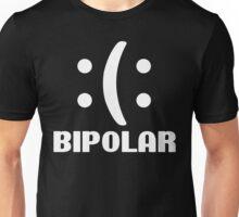 Bipolar Emoticon Funny Geek Nerd Unisex T-Shirt