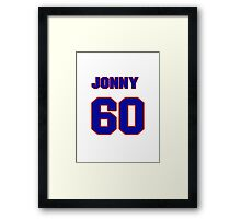 National baseball player Jonny Gomes jersey 60 Framed Print