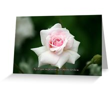 Say over again, and yet once over again that thou dost love me... Greeting Card