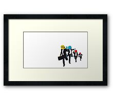 Pac Man in Suit Framed Print