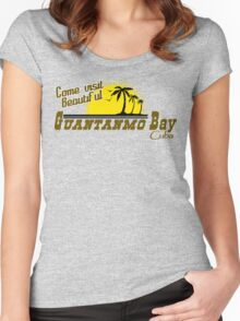 COME VISIT BEAUTIFUL GUANTANAMO BAY CUBA Funny Geek Nerd Women's Fitted Scoop T-Shirt