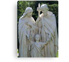 Mary, Joseph and Jesus Canvas Print