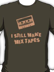 I Still Make Mix Tapes (Orange Print) T-Shirt
