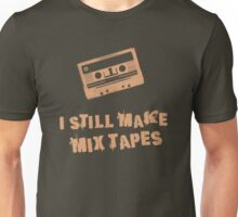 I Still Make Mix Tapes (Orange Print) Unisex T-Shirt