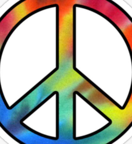 Peace Tie Dye Sticker