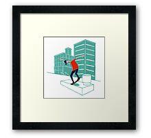 Inner city skater Framed Print