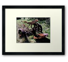 photoj Rusty Farm Equipment Framed Print