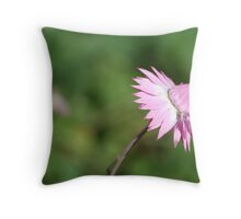 Standing alone...native flower series Throw Pillow