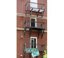 Alley Fire Escapes Photographic Print