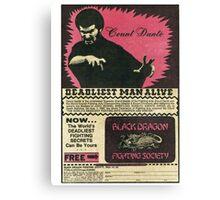 BLACK DRAGON FIGHTING SOCIETY Canvas Print