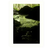 bubbling green Art Print