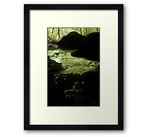 bubbling green Framed Print