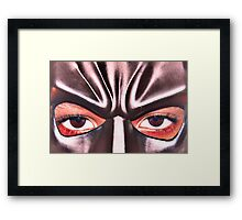 Bat Man's eyes Framed Print