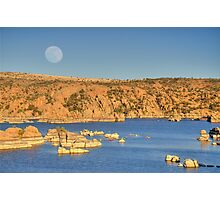 Watson Lake Moon Photographic Print
