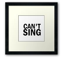 Glee: Can't Sing Framed Print