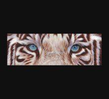 White Tiger Eyes T-shirt by artbyakiko