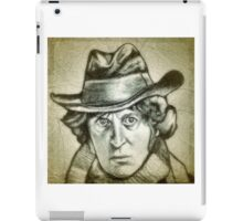 Dr. Who, Tom Baker drawing iPad Case/Skin