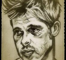 Brad Pitt drawing by RobCrandall