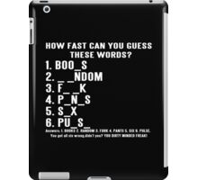 How Fast Can You Guess These Words Funny Geek Nerd iPad Case/Skin