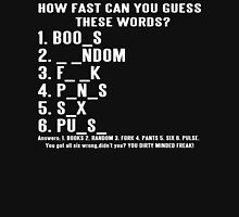 How Fast Can You Guess These Words Funny Geek Nerd Unisex T-Shirt