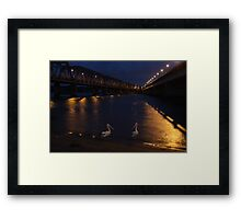 Bridge over moony waters Framed Print