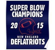 Deflate Gate - Vintage Deflatriots Super Blow Champions Poster