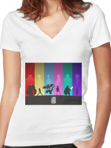 The Big Hero 6 Women's Fitted V-Neck T-Shirt