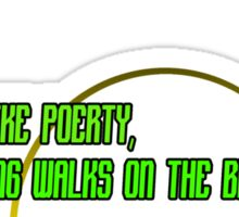 I LIKE POETRY, LONG WALKS ON THE BEACH AND POKING DEAD THINGS WITH A STICK Funny Geek Nerd Sticker