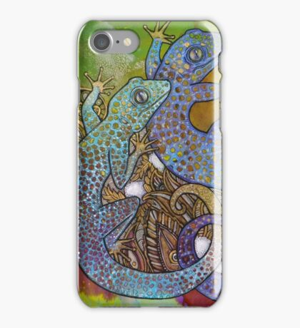 Blue Geckos iPhone Case/Skin