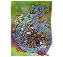 Blue Geckos Poster