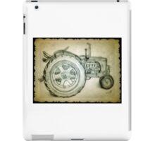 Tractor drawing iPad Case/Skin