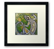 Dancing Gecko Framed Print